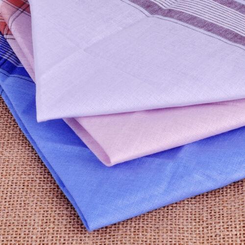 12pcs 37x37cm Soft Cotton Handkerchief Comfort Vintage Square Handy Pocket New