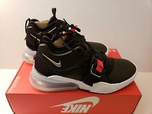 9b6e04e0d Nike Air Force 270 Size 8.5 Black Metallic Silver White Red AH6772 ...