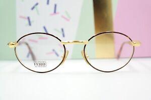 Brille-Brillengestell-Vintage-Gianfrance-Ferre-GFF-358-braun-gold-54-20-135-NOS