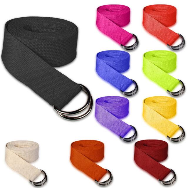 180CM Adjustable Yoga Stretch Strap D-Ring Belt Fitness Resistance Exercise Band