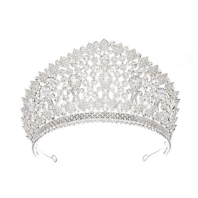 9cm-High-Large-Adult-Crystal-Pearl-Wedding-Bridal-Party-Pageant-Prom-Tiara-Crow