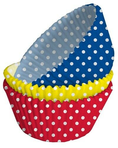 Baking Cupcake Muffin Cases 75 cases Polka Dots