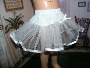 White-Nylon-Net-Slip-Petticoat-25-034-Doll-clothes-fits-Mattel-Charmin-Cathy