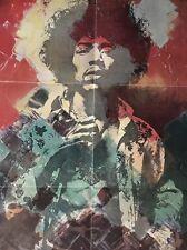 Blacklight Vintage Poster Jimi Hendrix 1970's Psychedelic pin-up Original Trippy