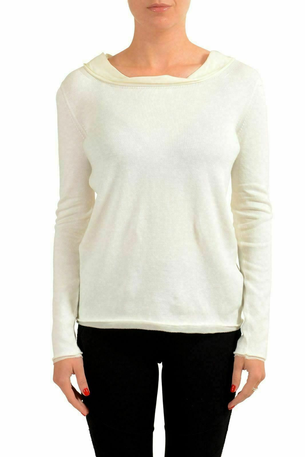 Dsquared2 Silk Off-White Long Sleeve Women's Blouse Top US S IT 40