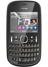 NUOVO Nokia Asha 200 Dual SIM-Grafite (Sbloccato) Smartphone QWERTY