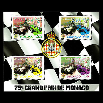 Monaco 2017 - 75th Anniv of The Monaco Grand Prix Car Racing - MNH