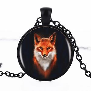 Fox Pendant Unisex Necklace UK Stock