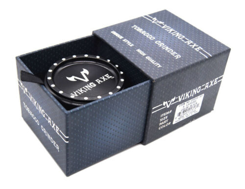 "2.5/"" 63mm VIKING AXE 4 Piece GrinderSunken Shape  w// Box BLACK Color 016"