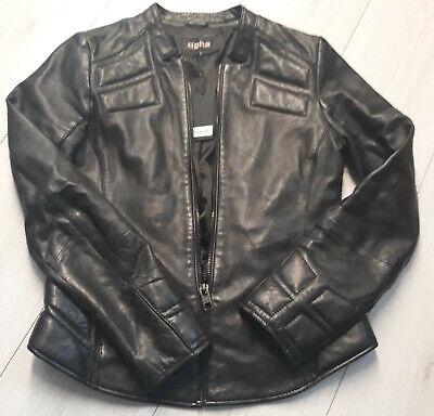 Details about Tigha Damen Biker Lederjacke Black Sheep Leather Gr. S