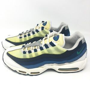 size 40 e9393 bcae5 Details about Nike Air Max 95 OG White Emerald Green Blue 554970 131 Size  12 M
