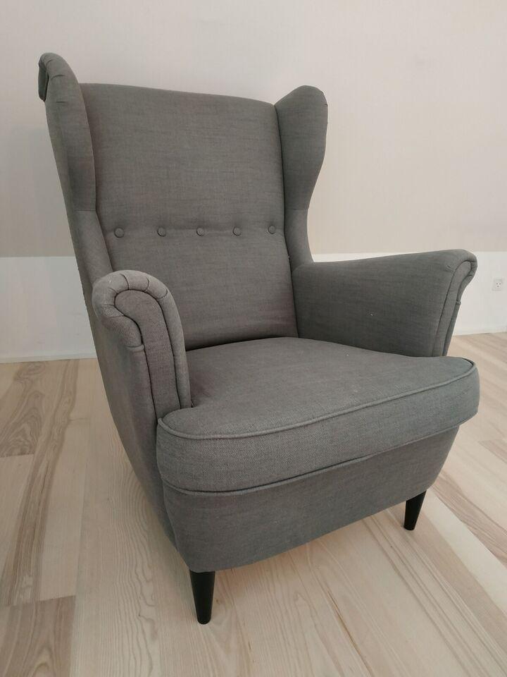 Lænestol, stof, IKEA – dba.dk – Køb og Salg af Nyt og Brugt