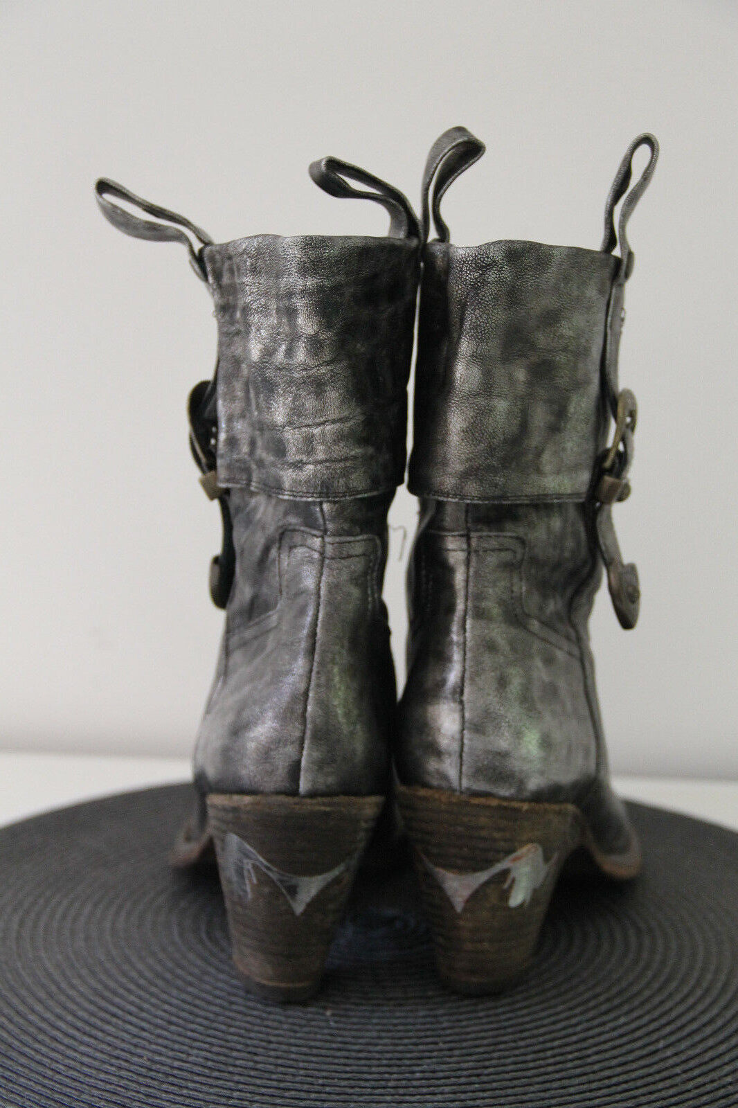 Pretty boots loop leather silver size 35,5 New New New 918734