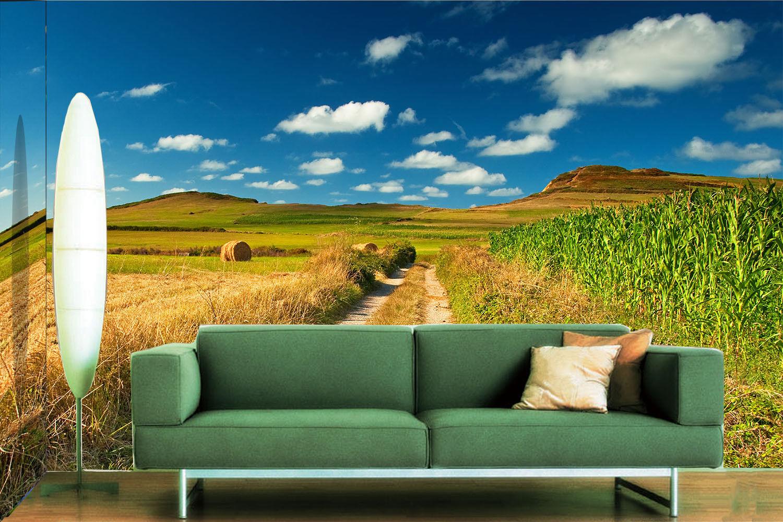 3D Clouds Plant Farm 8 Wall Paper Murals Wall Print Wall Wallpaper Mural AU Kyra