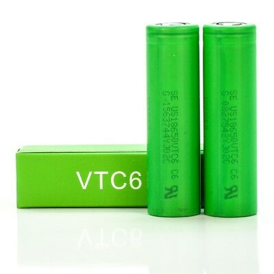 2x Sony VTC6 IMR 18650 3000mah 30A Rechargeable Batteries   Flat Top Ion  Battery   eBay