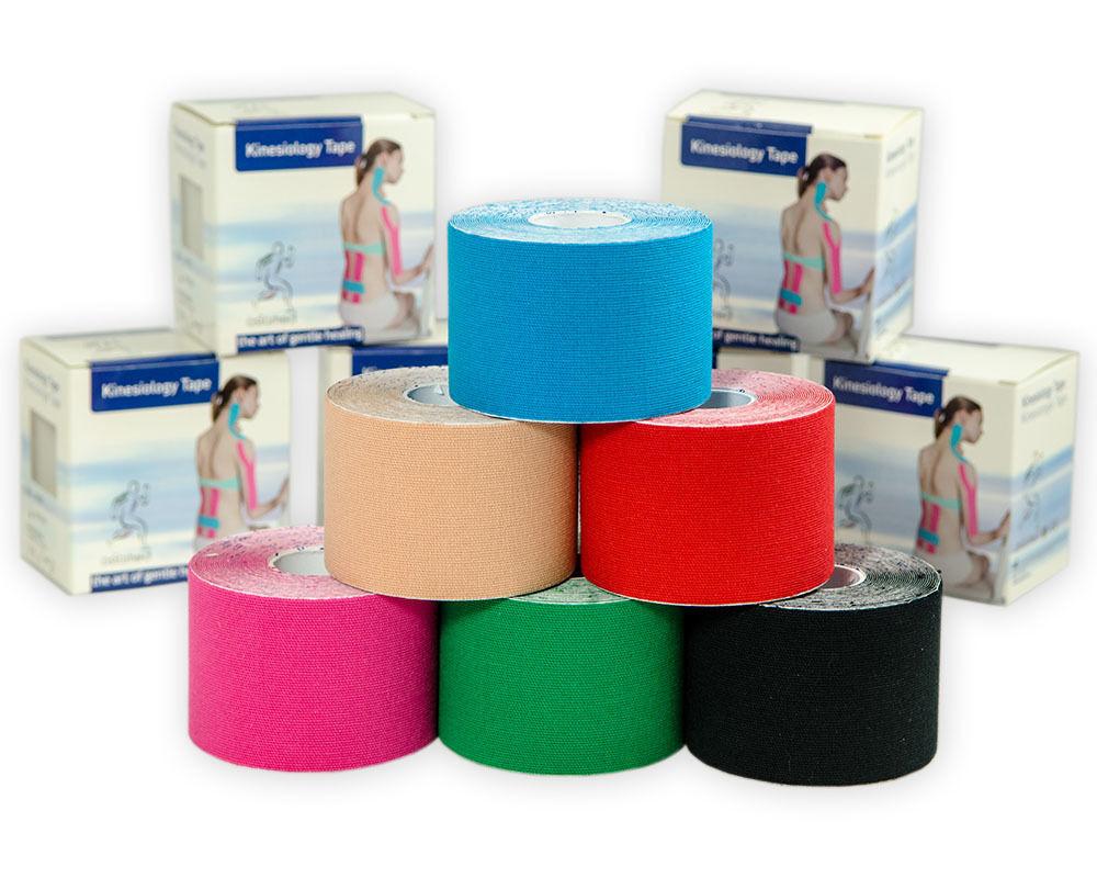 Kinesio 6 ROTOLI ASIAMED taping kinesiology tape cm 5x5mt colori assortiti