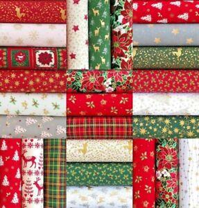 Tissu Noel Patchwork Mixte Noël Tissu Patchwork Charmes Carrés 100% Tissu De Coton 50 X
