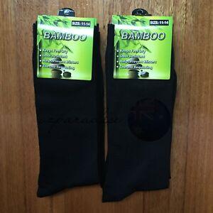 6-Pairs-SIZE-11-14-95-BAMBOO-SOCKS-Men-039-s-Premium-Work-School-Socks-Black