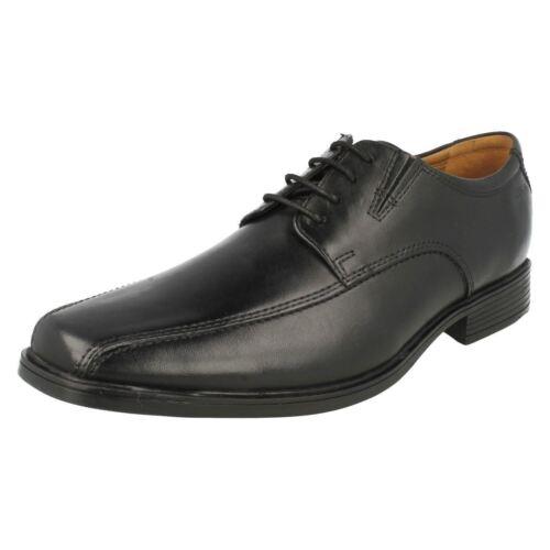 Herren TILDEN WALK schwarze geschnürte Leder Schuhe von Clarks Einzelhandel