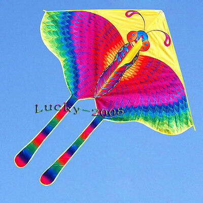 "51""X70"" Butterfly Kite Children's Toy stunt Outdoor sports delta kites for kids"