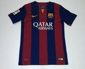2014 FC BARCELONA NIKE YM 10 LEO MESSI ESPAñA SPAIN JERSEY young ... 77452411996be