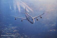 BRITISH AIRWAYS 747-436 AVIATION ART PRINT RONALD WONG