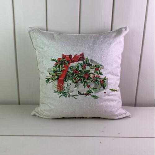 Christmas Gift Holly Linen Cushions Cover Sofa Throw Pillow Case 1232708