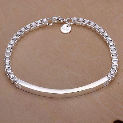 Nice! Sterling Solid Silver Bracelet DAH079 + box