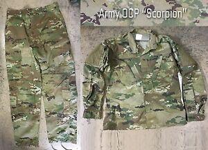 Us Army Ocp Acu Scorpion W2 Combat Uniforme Camouflage Veste Pantalon Large Regular-afficher Le Titre D'origine