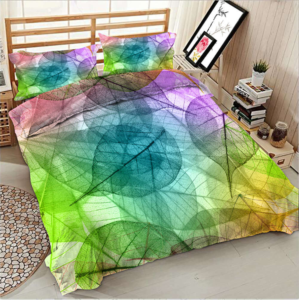 Colour Aesthetic 3D impression Duvet Quilt Doona Covers PilFaible Case Bedding Sets