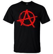 Anarchy Symbol T-Shirt - Punk Rock T Shirt Bedlam Evil Anarchist War Rocker