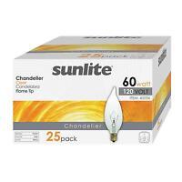 25-pack of 60 Watt FLAME TIP Chandelier Light Bulbs E12 Candelabra Base 60w