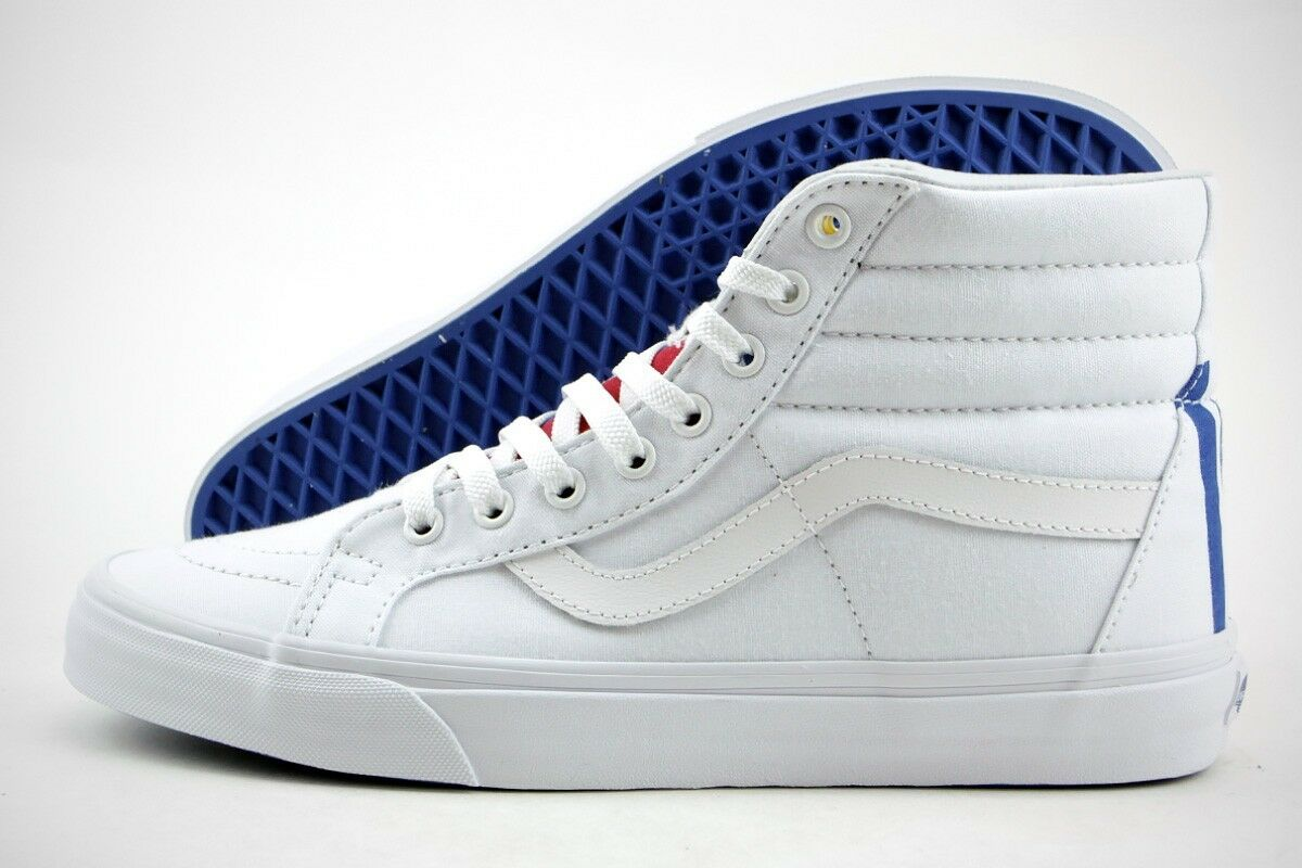 Vans Sk8- Hi Reissue ( 1966 ) True White / Blue / Red / Yellow MSRP