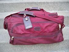 """24"""" Vintage Tumi Maroon Duffle Duffel Bag Weekender Gym Maroon Ballistic Nylon"""