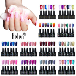 Belen 6PCS Colore Kit Esmalte Semipermanente Brillante de Uñas en Gel UV LED