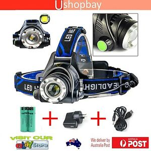 3X T6 LED 200000LM LED Bicycle Bike Torch Light Lamp Fishing Headlight Headlamp