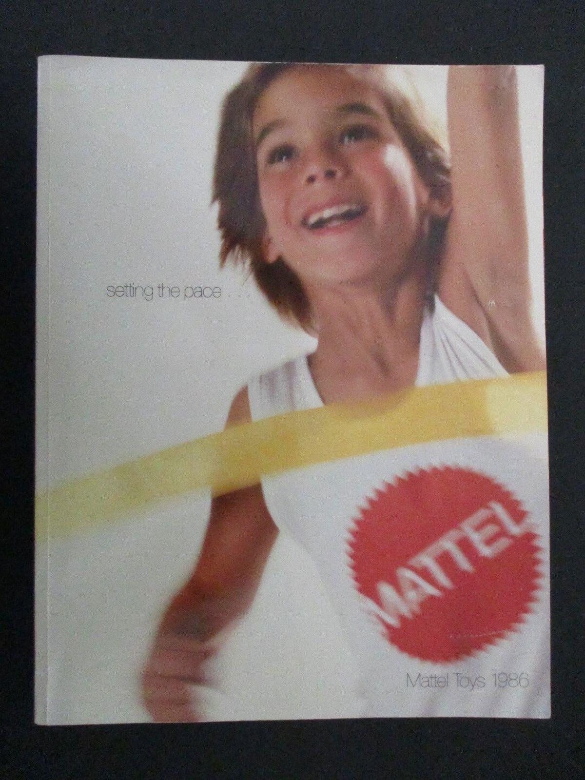 1986 Mattel Juguetes Distribuidor Catálogo Barbie Hot Wheels Amos del universo ella ra músculo Etc