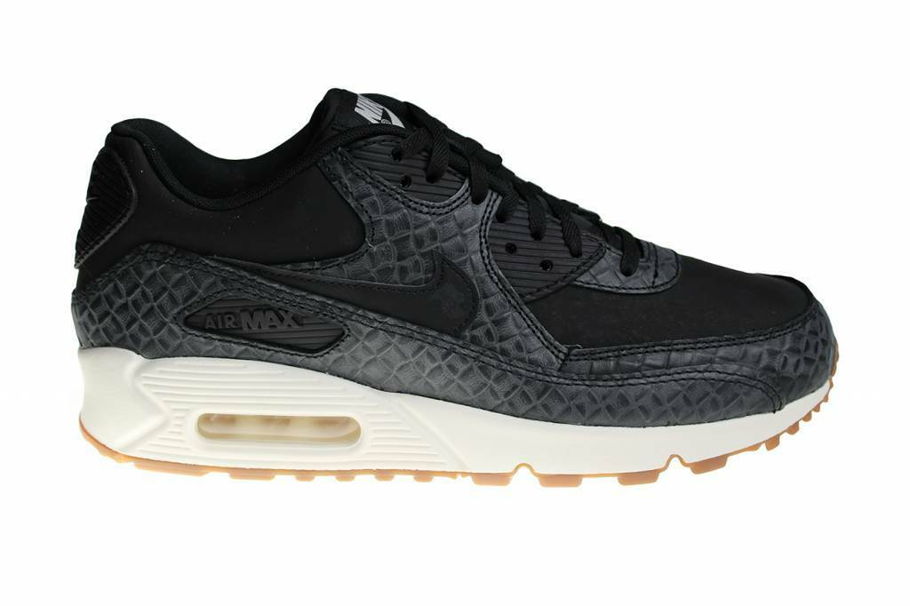 WMNS Nike Air Max 90 PREM SZ 8.5 noir Sail Gum Brown 443817-010