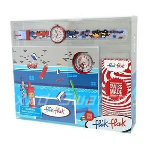 Swatch-Flik-Flak-Racer-Swiss-Made-Watch-Watch-Children-039-s-Boys-ZFTB017