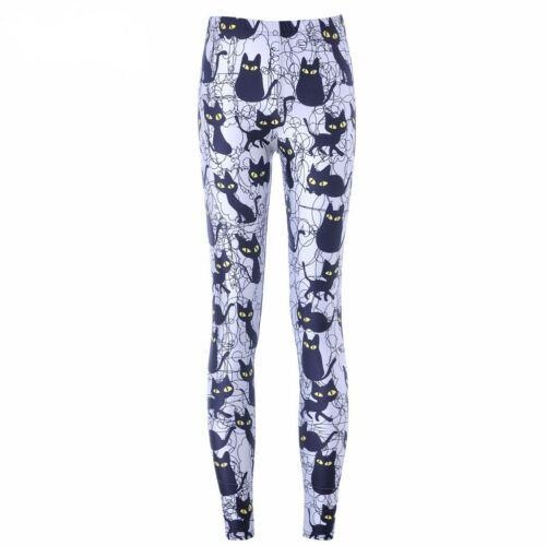 Reino Unido Gato Negro Leggings Pantalones de Yoga de Dibujos Animados Idea de Regalo Loungewear Kawaii Lindo Animal