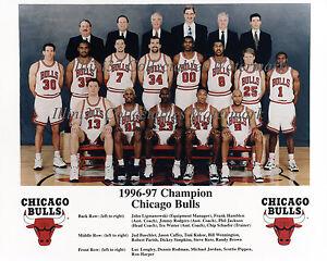 1996-97 CHICAGO BULLS NBA WORLD CHAMPIONS 8x10 TEAM PHOTO | eBay