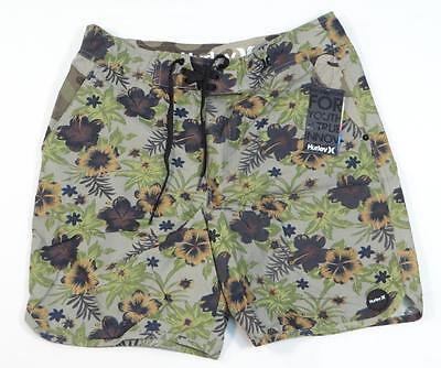 Hurley Flamo CBPT Green Floral Boardshorts Walk Shorts Mens NWT