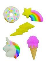 Rainbow Party Rainbow Unicorn Donut IceCream Sugar Decorations Cup Cake Cake