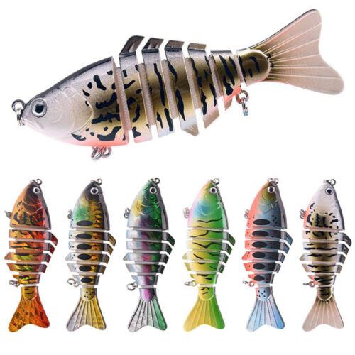 7 Segment Multi Jointed Fishing Lures Fish Bait Crankbait Hooks Swimbait 10CM UP