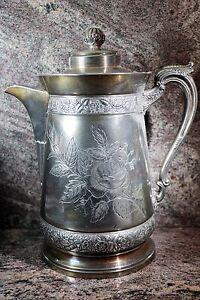 Middletown Plate Co. Quadruple Silver Plate Hard White Metal Tea Pot #470