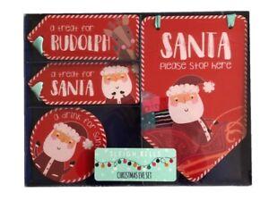 Enfants-Noel-Reveillon-Coffret-Santa-Rudolphe-Signe-Plaque-Sous-Verres-Noel-Kit