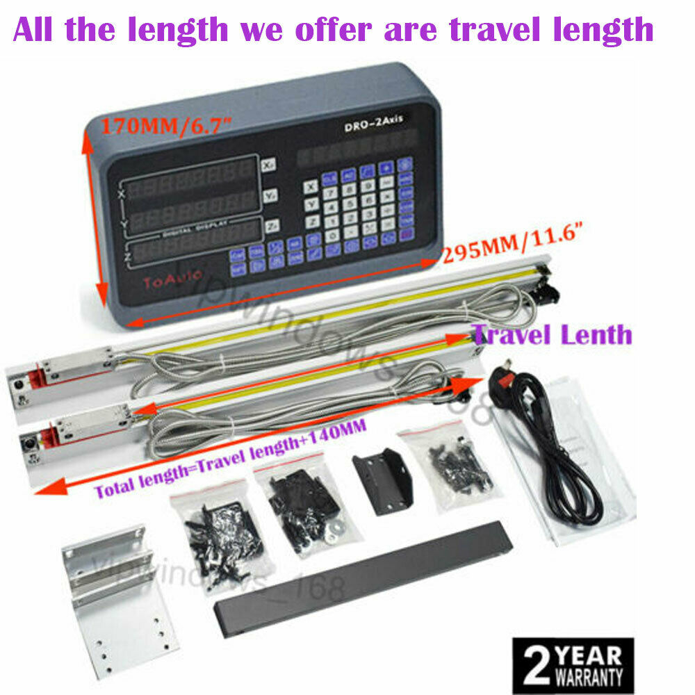 Fister 2 Axis DRO Digital Readout Display for Mill Milling Lathe Machine
