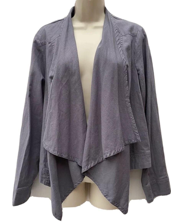 INDIGO Women's UK 18 Flax Cotton Shrug Jacket Layering Lagenlook Boho Chic Style