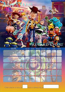 TOY-STORY-Childrens-Kids-A4-Size-Magnetic-BEHAVIOUR-REWARD-Chart-Sheet