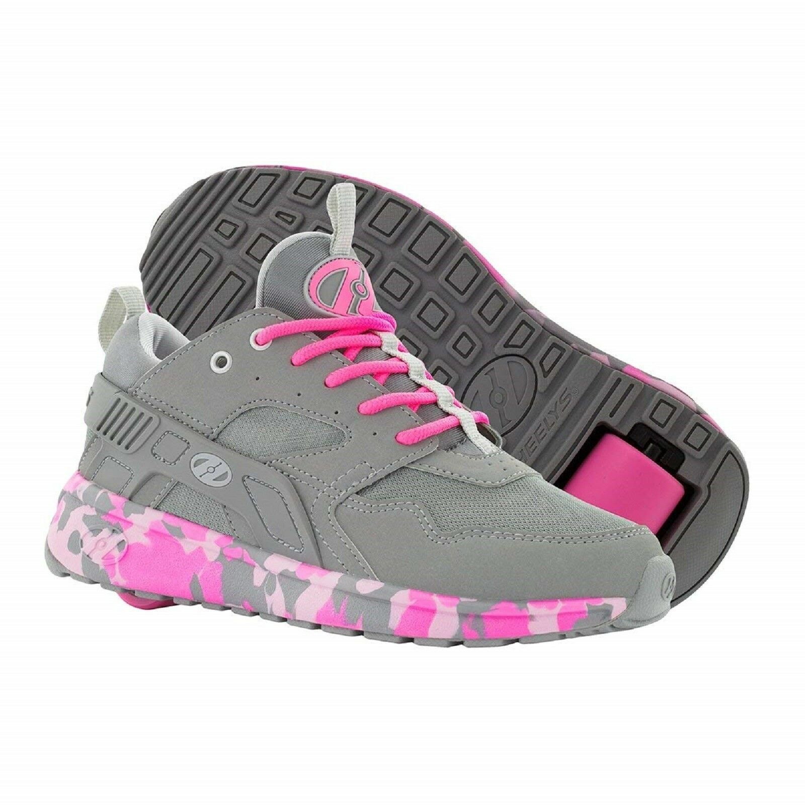 HEELYS FORCE grau/Rosa KIDS ROLLER SKATE Schuhe FORCE K Turnschuhe grau/Rosa FORCE CONFETTI HE100098 0ffec3
